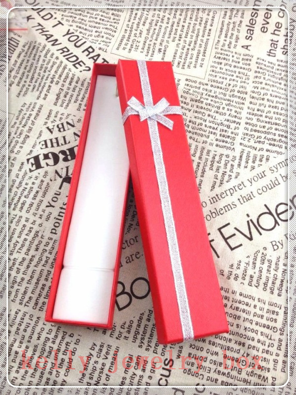 New Fashion Paper Jewelry Box ! Wholesale 24pcs/lot Red Necklace Gift Box Jewelry Chain Bracelet Display Packaging Boxes