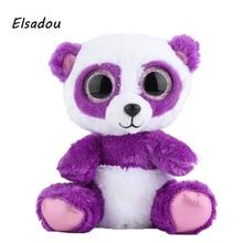 Elsadou Ty Beanie Boos Stuffed Plush Animals Purple Panda font b Toy b font Doll