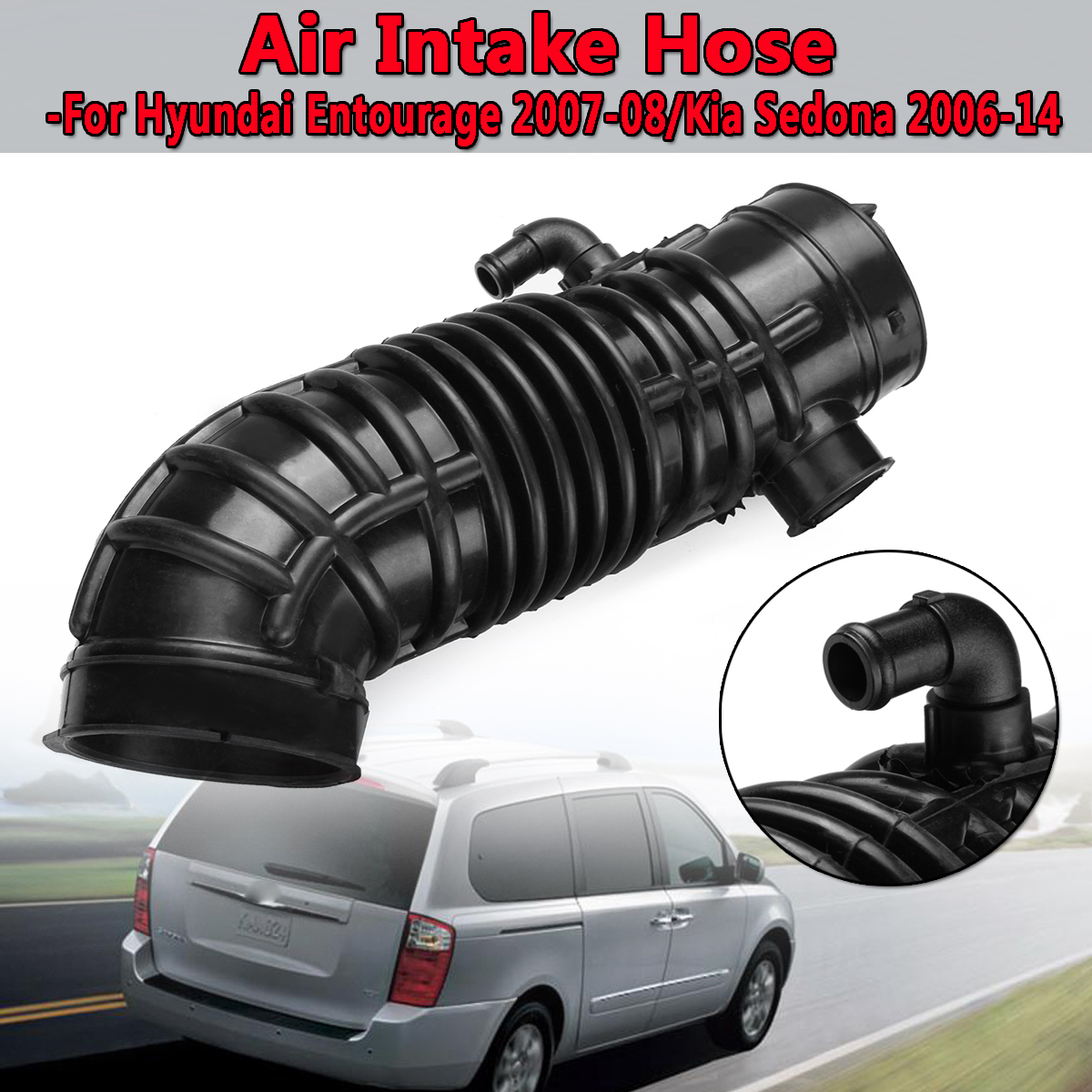 medium resolution of engine car air intake hose pipe for hyundai entourage 2007 2008 for kia sedona 2006