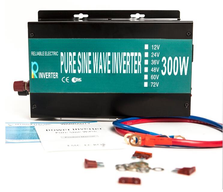 Full Power Pure Sine Wave Solar Power Inverter 300W 12V/24V 120V/220V DC to AC Converter Portable Car Power Inverter LED Display brand new 10pcs 12 point mm triple square spline bit socket set for tamper proof lug nuts cylinder head bolt