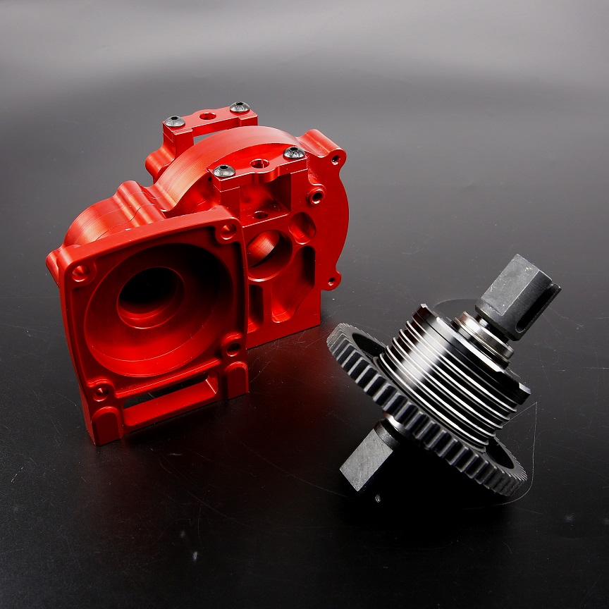 CNC Alloy Middle Diff Gear Kit Gearbox Transmission Box FOR Rovan TRUCK 1/5 LT Losi 5ive-T Rc Car Spare Parts hsp 02024 differential diff gear complete 38t for 1 10 rc model car spare parts fit buggy monster
