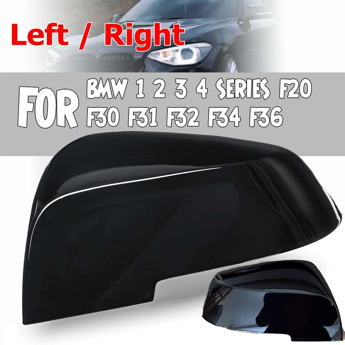Left Outside View Door Wing Mirror Glass fit BMW 1 2 3 4 X1 Series F30 F35 F36