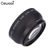 Cewaal 0.45X 58MM Aluminum-Magnesium Alloy Wide Angle Lens Camera Lens Lens Bag Natural Photo Durable Camcorder Lenes