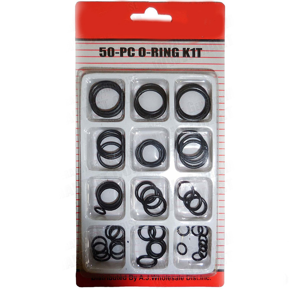 50pc Rubber O Ring Set Assortment Plumbing Hydraulic Air Gas Paintball Oring Kit 225pc rubber o ring gasket assortment kit sae plumbing auto hydraulics hvac gas