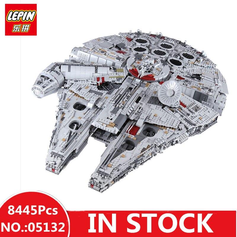 EN STOCK H & HXY 05132 8445 Pcs Étoiles Ultimate LEPIN Collecteur de guerres Modèle Destroyer Bâtiment Briques Enfants De Noël jouets 75192