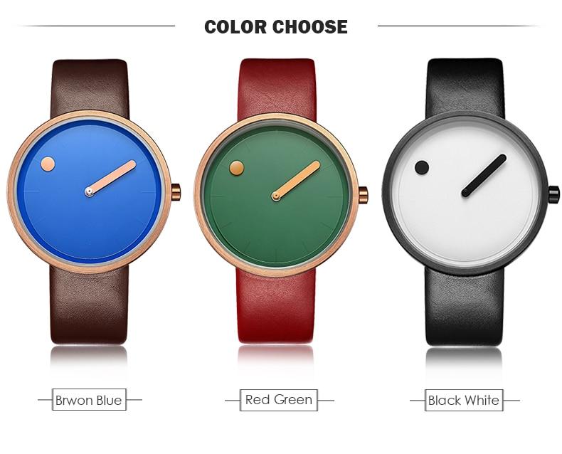 Luxury Designer Brand Quartz Watch Women Leather Casual Ladies Simple Wrist watch Girl Clock Female Creative Gift  relogio 8