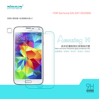 2015 New Nilkin Tempered Glass Screen Protector For Samsung Galaxy S5 G900 9H Hard Anti Scratch