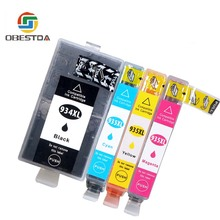 Obestda 934XL 935XL Compatible Ink Cartridge Replacement for HP 934 935 for HP Officejet 6230 6830 6835 6812 6815 6820 Print