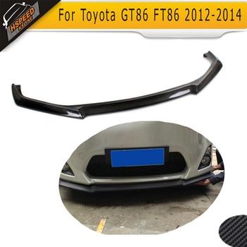 Карбоновая Автомобильная передняя губа переднего бампера для toyota GT86 FT86 2012 2013 2014