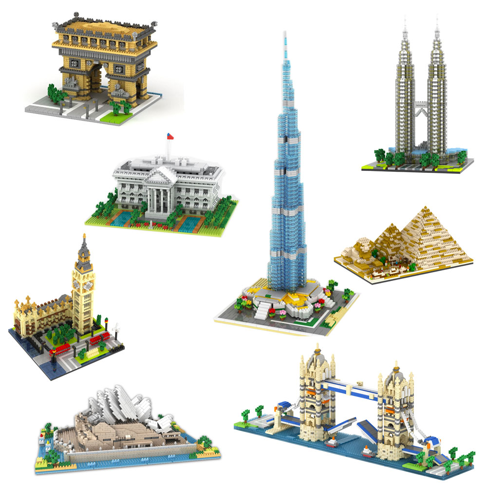 Rikuzo World Landmark Series Model Building Block Set - Nano Micro Blocks Mini legoing lepinED DIY Toys for Kids часы mini world mn1012a