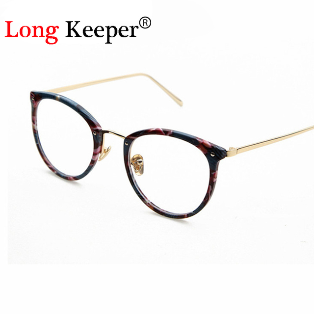 Long Keeper New Women Fashion Glasses Frame Cat Eye Eyewares For ...