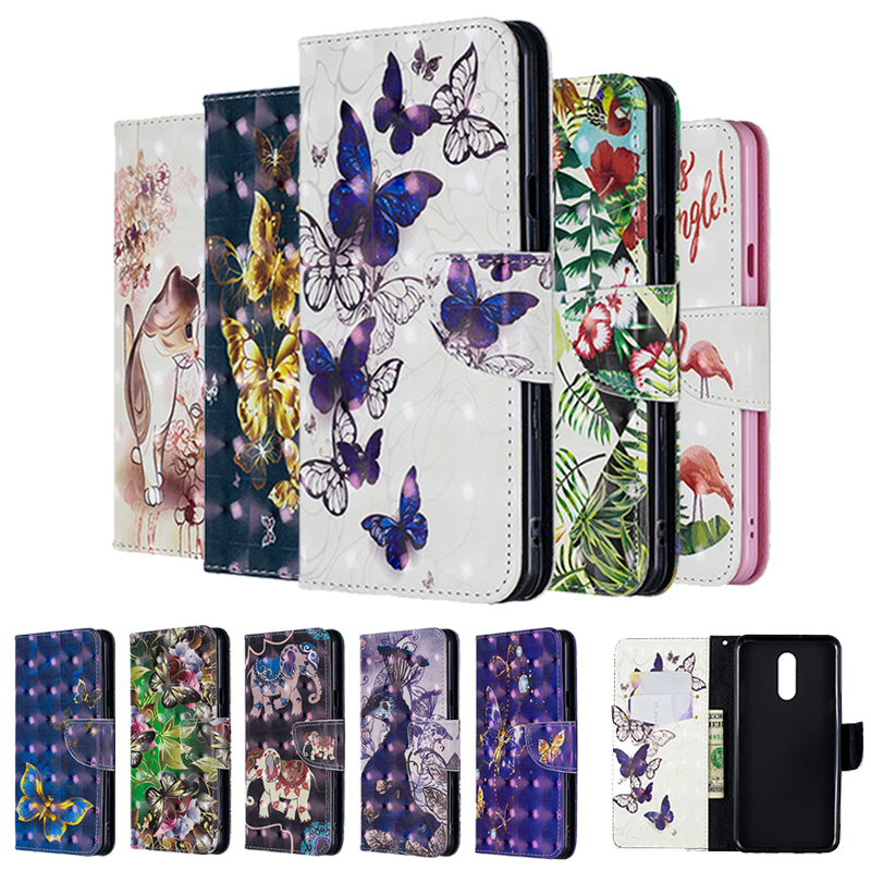 Case For Huawei P20 P30 <font><b>Mate</b></font> 10 <font><b>20</b></font> <font><b>Lite</b></font> Pro Nova 3i Y5 2018 Psmart Plus Y6 Y7 2019 3D Leather Flip Cover <font><b>Hawei</b></font> Honor 8A 8C 7A 7C image