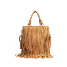 Women Fashion Handbags New Vintage Messenger Bags Large capacity Shoulder Bag Tassel fringe Popular Cross Body Bag pu Leather