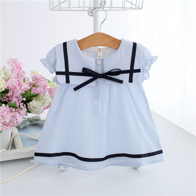 84a187cc8126 new 2018 baby summer dress solid kids clothing bow baby dresses cute ...