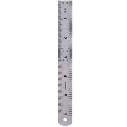 Straight Ruler Double Side Stainless Steel Measuring Straight Ruler Tool 15cm 6 Inch Office School Accessories Kids Gifts