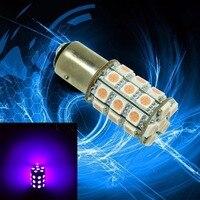 PA LED 2pcs x Super Bright 3157 Color PURPLE 14V Motorcycle Brake Light 30SMD 5050 LED