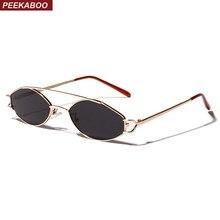 7177d0583 Peekaboo 2019 óculos de sol das mulheres pequeno quadro ouro orange oval  óculos de sol para homens de aço inoxidável retro metal.