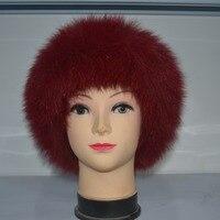 Pure natural fur hat mink fur knit hat suede princess hat fox fur hat