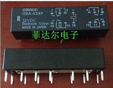 relay G6A-434P-12VDC G6A-434P 12VDC G6A 434P DC12V 12V OMRON DIP14 ir2110 ir2110pbf dip14