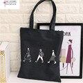 Gran bolso de compras de moda y simple bolsa de compras de la Lona D1000-3