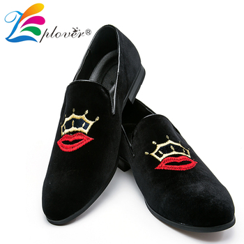 Zplover Fashion Sepatu Kasual Pria Beludru Pria Sepatu Malas Nyaman Bernapas Pria Sepatu Flat Hitam Musim Gugur Kasual Sepatu Pria