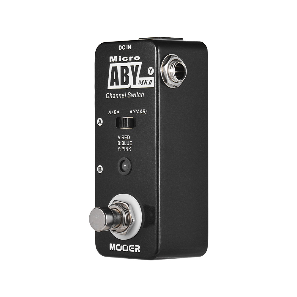 MOOER ABY MKII Channel Switch Guitar Effect Pedal True Bypass Guitar Pedal Full Metal Shell Guitar