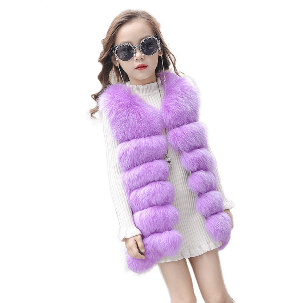 Toddler Kids Baby Girl Winter Clothes Children's Fur Vest Imitation Fur Fabric Warm Long Teenagers Boutique Girls Faux Fur Coat 2017 high quality vest for girls waistcoat fur vest girls imitation fur coat kids faux fur fabric clothes fur autumn winter vest