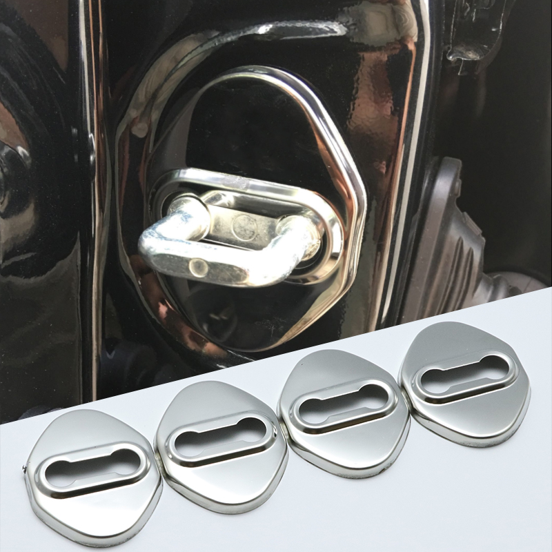 Excellent Stainless Steel Door Lock Buckle Protective Cover for <font><b>mazda</b></font> 2 <font><b>3</b></font> 5 6 8 MX-5 <font><b>CX</b></font>-5 Atenza car-styling image
