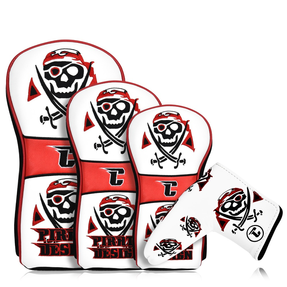 Champkey Pirate Golf Wood Head Cover & Putter Head Cover For Titleist, Callaway, Ping, Taylormade, Cobra, Nike, Etc.