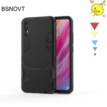 For Vivo V11 Case Silicone + Plastic Kickstand Phone Holder Anti-knock Pro / Cover