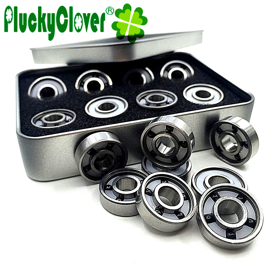skateboards longboards scooters 4-Pack CERAMIC bearings with Spacers for skates