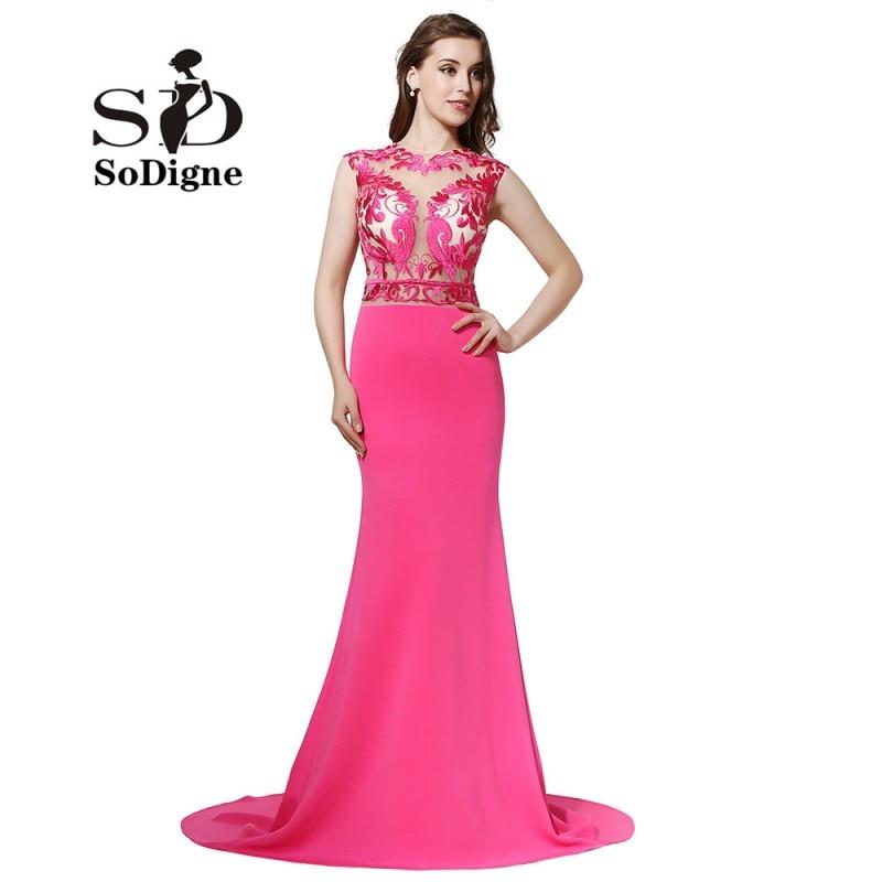 Prom Dress 2018 SoDigne Rose Pink Evening Dress Vestidos De Baile ...