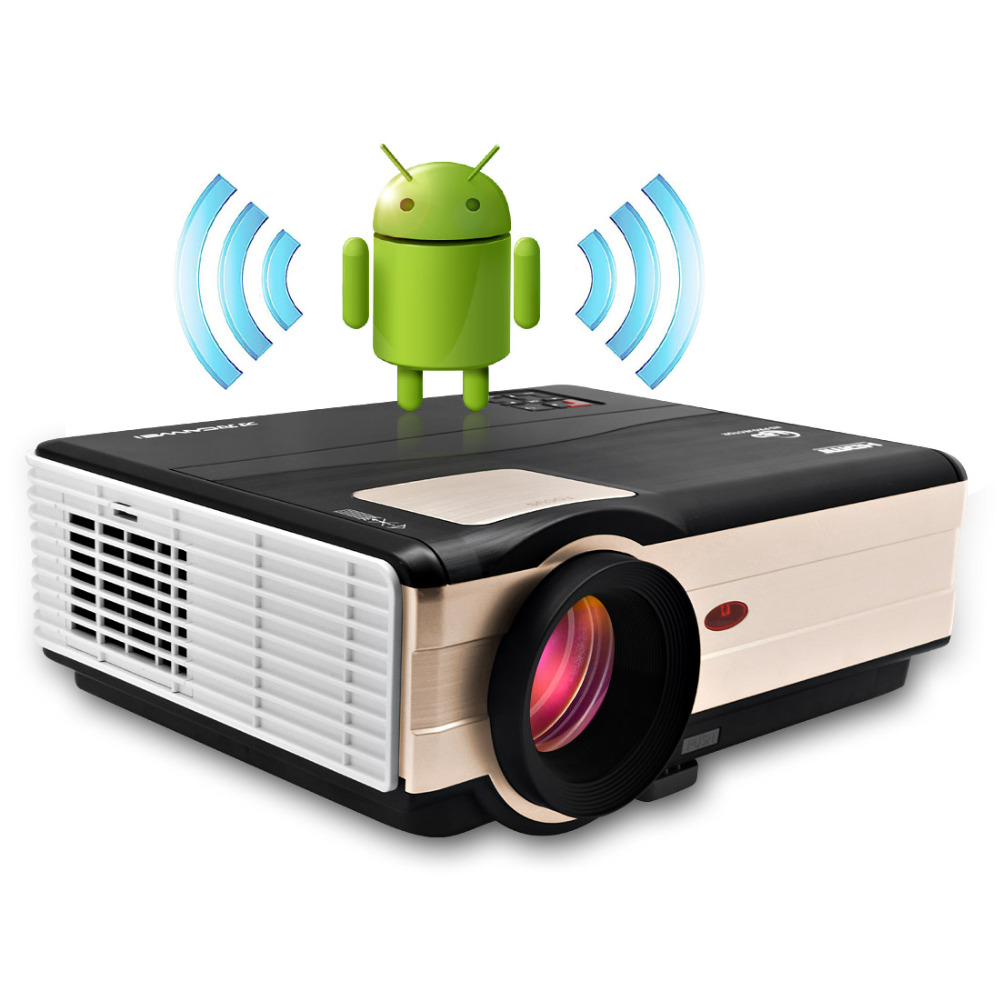 LCD Android Projector LED Home Theater Video Projector with Hdmi Multimedia 4000 Lumnes