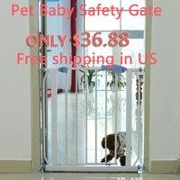 Большая распродажа Регулируемая Детская безопасность ворота двери собака безопасное ограждение лестницы через ходить для детей малышей д
