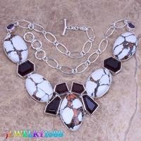 Fetching Blanco Piedra Natural Purple Cubic Zirconia 925 de Plata Esterlina Collar de Grado L569
