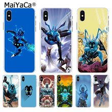 MaiYaCa Blue beetle Ultra Thin Cartoon Pattern Back Phone Case for Apple iPhone 8 7 6 6S Plus X XS max 5 5S SE XR Cover