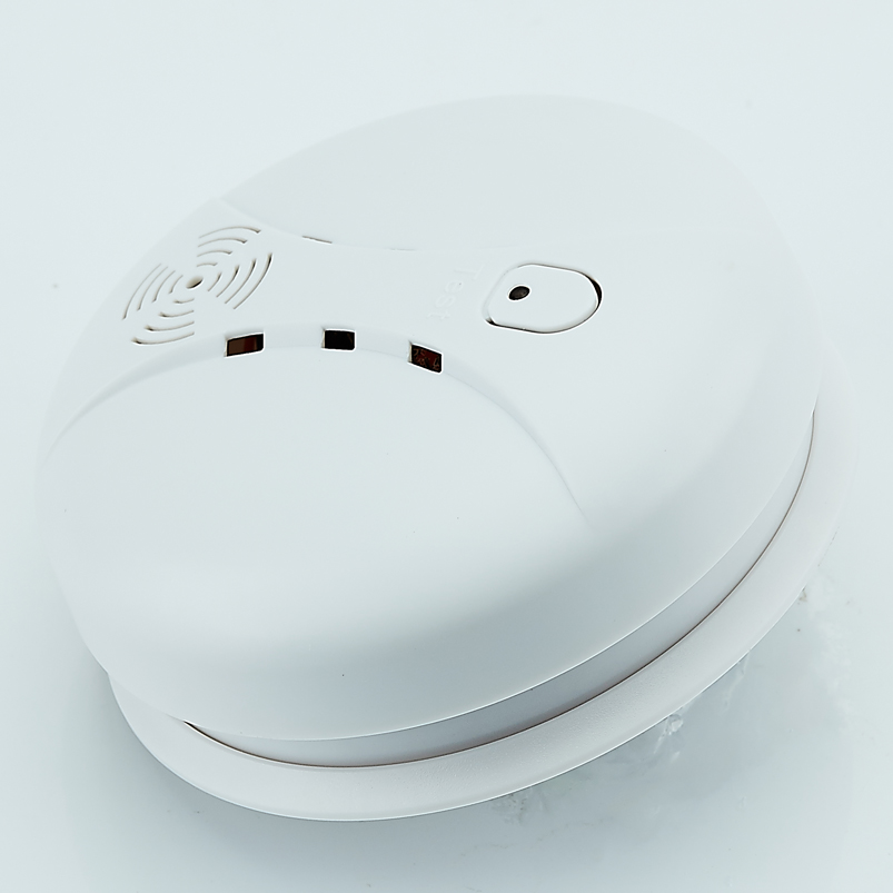 Free Shipping!433mhz Usage fire wireless Home Burglar Security Alarm FOR GSM alarm system NEW White 8pcs wireless smoke detector