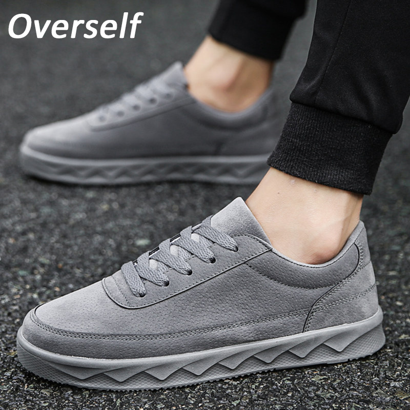 Men's Autumn Winter Casual Shoes Big Size Sneakers Black Gray Color Lace up Board Shoes Male Flat Krasovki Shoes masculino adult 2016 new autumn winter man casual shoes sport male leisure chaussure laced up basket shoes for adults black