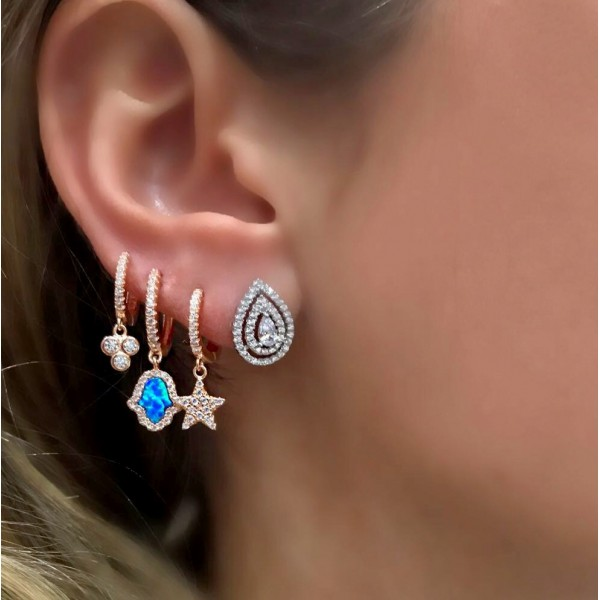 100% 925 Sterling Silber Zarten Sterne Charme Ohrring Baumeln Stern Mini Nette Cz Stern Mädchen Damen Minimale Zarte Silber Schmuck