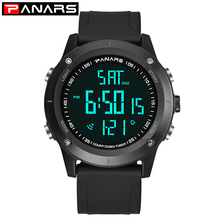 PANARS Outdoor Sports Men Digital Watches Top Brand Shock Digital Watches Dual Time LED Waterproof Watches Alarm Clock Timer cheap 27cm Plastic Buckle 5Bar Digital Wristwatches 54mm 14 5mm Acrylic Back Light Shock Resistant LED display luminous Chronograph