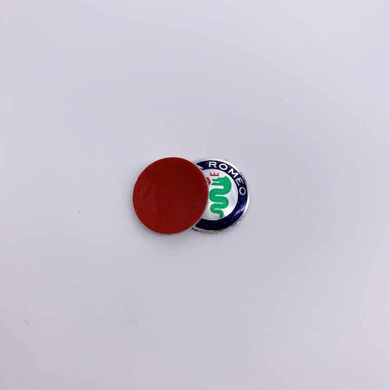 10 piezas 14mm 15mm Oro Verde Negro ALFA ROMEO coche Logo llavero emblema pegatina para Mito giulietta Spider GT Brera