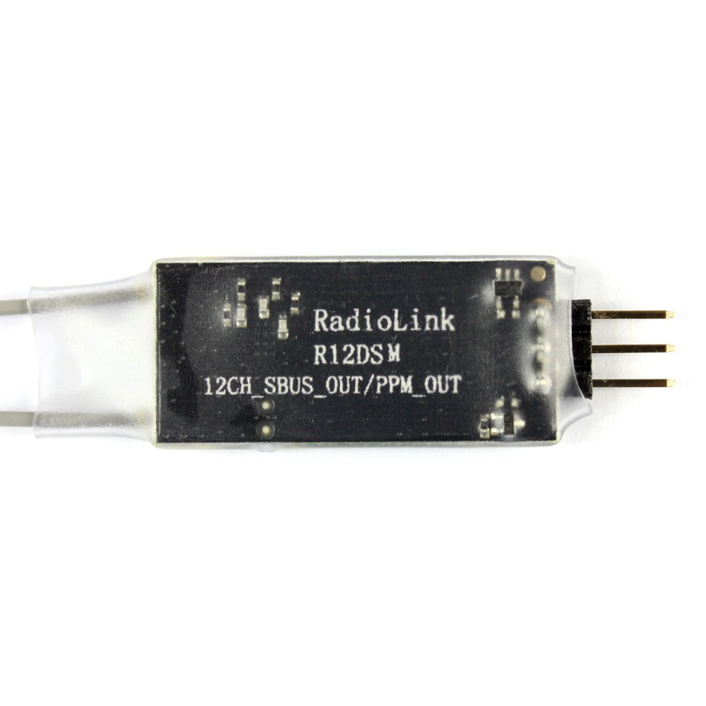 Radiolink R12DSM Dual Antenna Mini Receiver 12 Channel  2.4G for AT9 AT9S AT10II Transmitter radiolink r12dsm 2 4g 12 channels receiver 12ch rx fss dsss spread spectrum for radiolink transmitters at9 at9s at10 at10ii