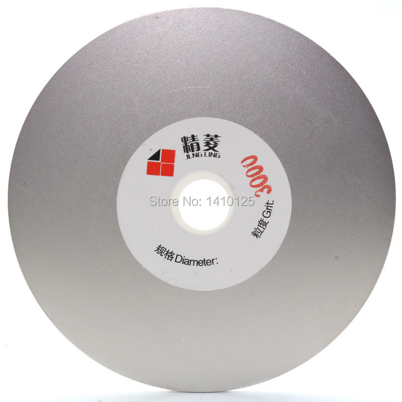 4 inch Grit 3000 Very Fine Electroplated Diamond Grinding Disc Wheel Coated Flat Lap Disk Lapidary Tools for Gemstone Jewelry imperforate 8 inch diamond grinding disc coated flat lap disk jewelry tools ilovetool
