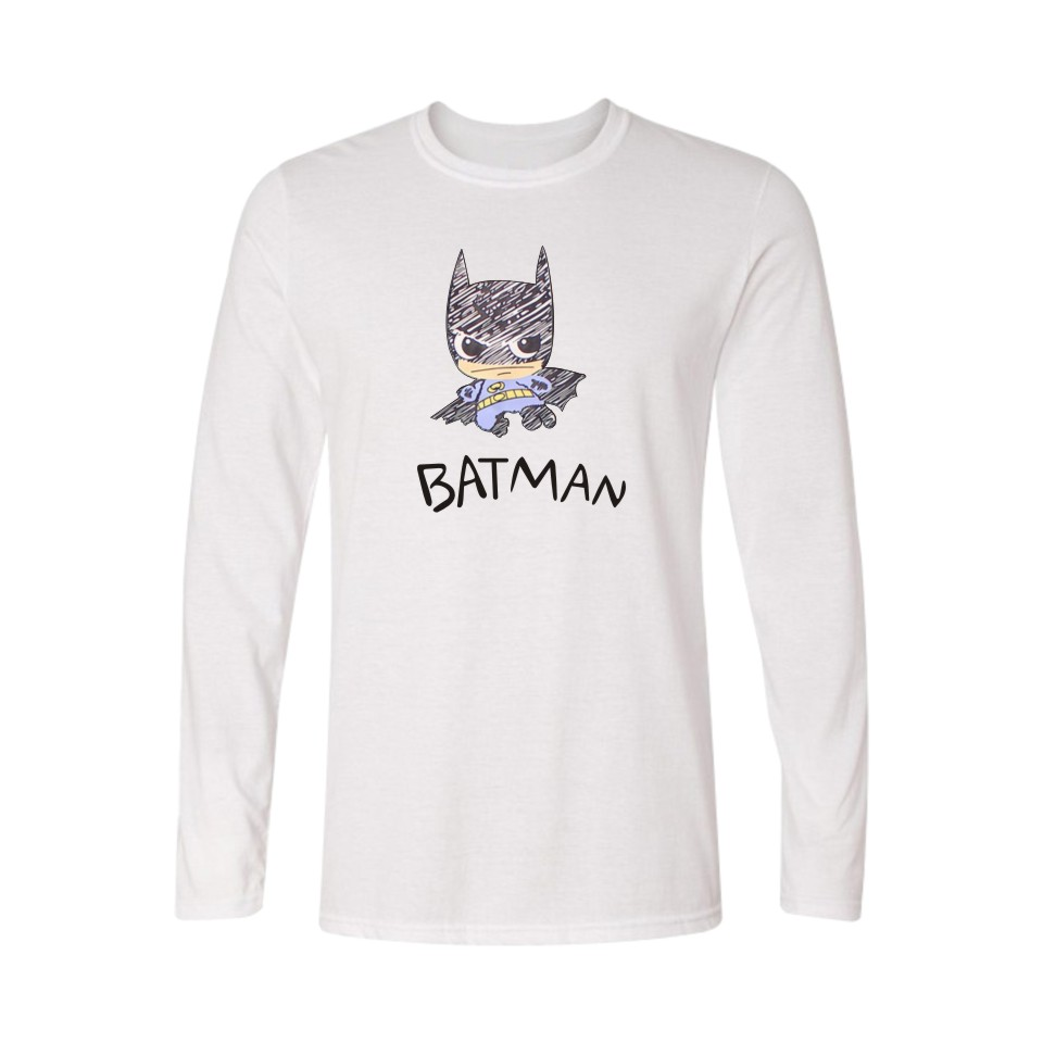 Super Hero Batman Navy Blue TShirt Women Plus Size T-shirt Womens Clothing Cotton Tees Long Sleeve in Brand Tees Women