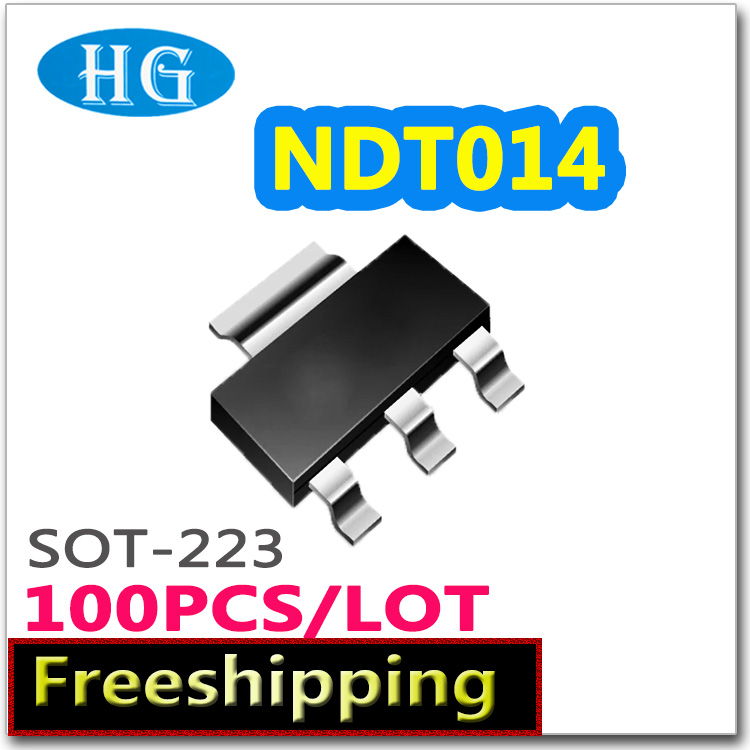 smd NDT014 100pcs 1000PCS 60V 2.7A sot223 N channel pdf inside mosfet  electronic  electronic components quality-in Replacement Parts & Accessories from Consumer Electronics