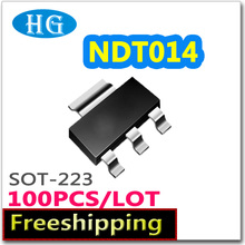 smd NDT014 100pcs 1000PCS 60V 2.7A sot223 N channel pdf inside mosfet  electronic  electronic components quality