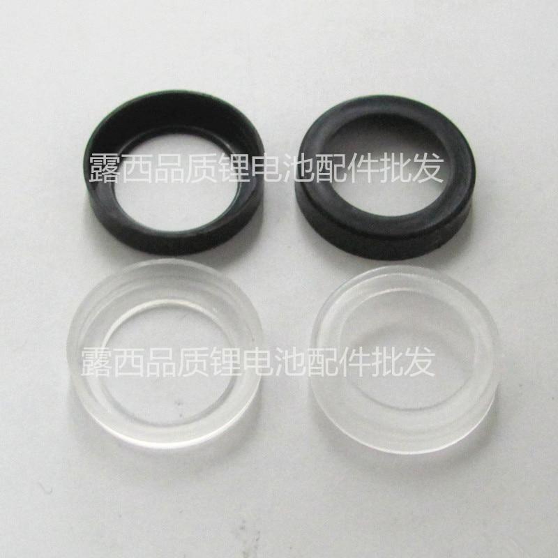 Купить с кэшбэком 50pcs/lot Manufacturers wholesale 18650 lithium battery sealing ring Black nickel cadmium ni-mh battery of synthetic aprons