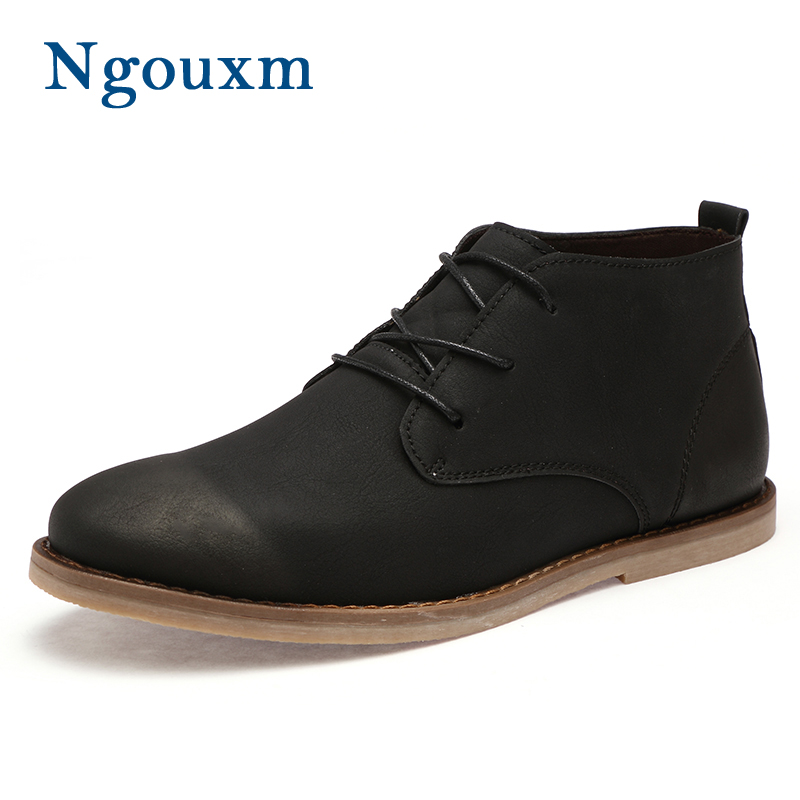 Cuir with Bout Désert Man up D'hiver Bottes Black Brown Ngouxm À Coudre Hommes La En Plush Court Plat marron Dentelle with Noir Véritable gris with Rond De Peluche Gray Main Cheville x0wTB