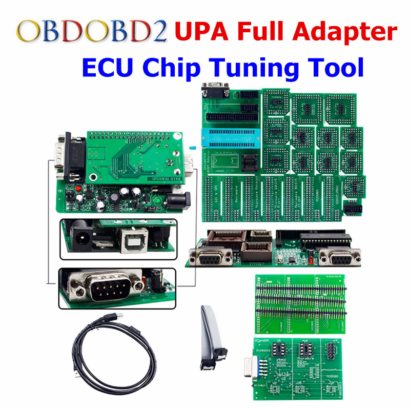 High Quality UPA USB V1.3 Serial ECU Programmer Full Adapters UPA-USB Auto ECU Chip Tuning OBD2 Diagnostic Tool UPA V1.3 the best quality update version super upa usb programmer with full adapters hot selling