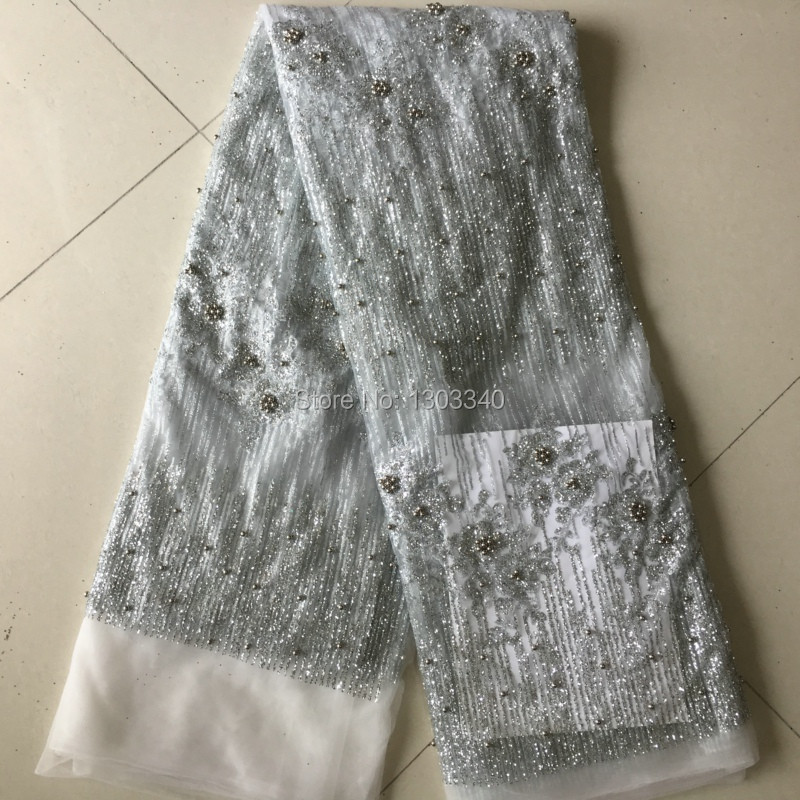 Hot Sell Mesh Fabric with Shining glitter For Wedding dress ZP1 ,Free shipping Wholesale Price african voile lace In SilverHot Sell Mesh Fabric with Shining glitter For Wedding dress ZP1 ,Free shipping Wholesale Price african voile lace In Silver